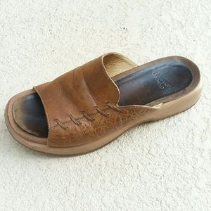 DANSKO Tan Wedge Sandal Mule